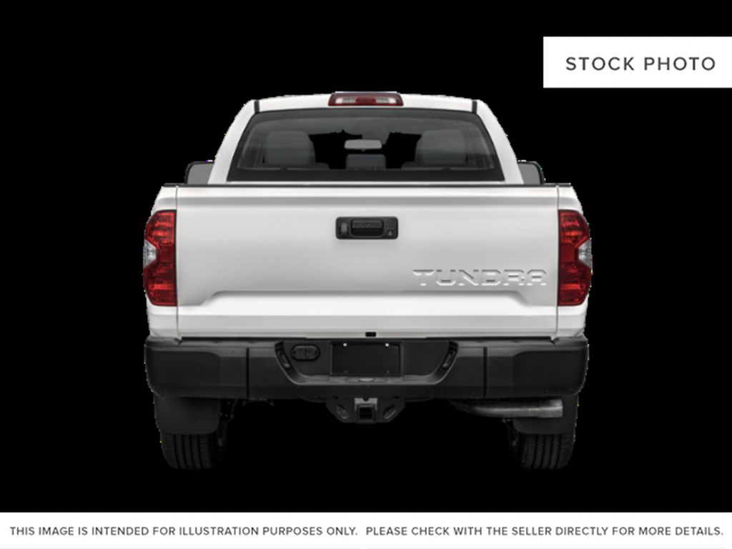Cement Grey Metallic 2021 Toyota Tundra Double Cab TRD Off Road Rear of Vehicle Photo in Edmonton AB