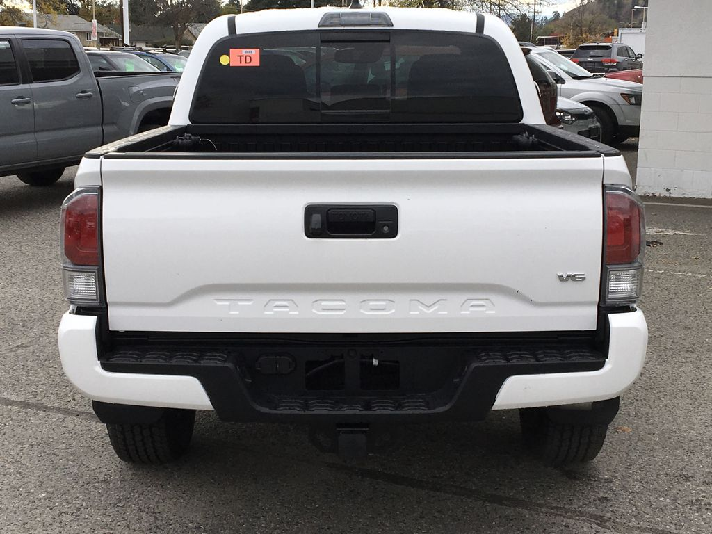 White[Super White] 2021 Toyota Tacoma TRD Off Road Rear of Vehicle Photo in Kelowna BC