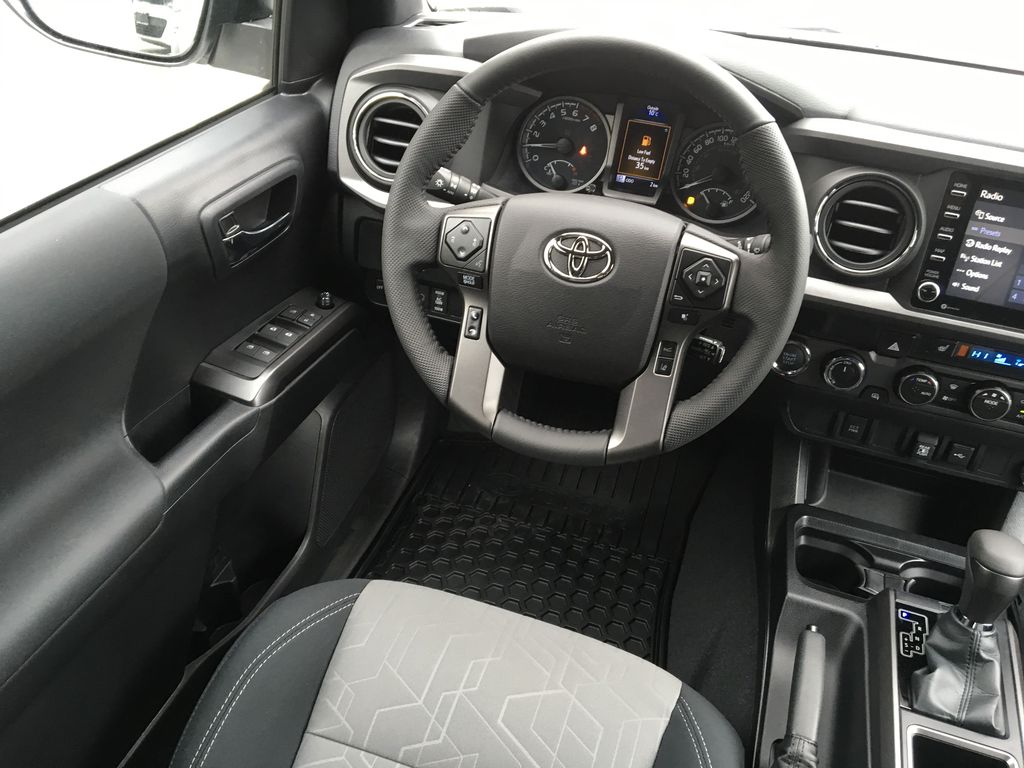White[Super White] 2021 Toyota Tacoma TRD Off Road Left Front Interior Door Panel Photo in Kelowna BC