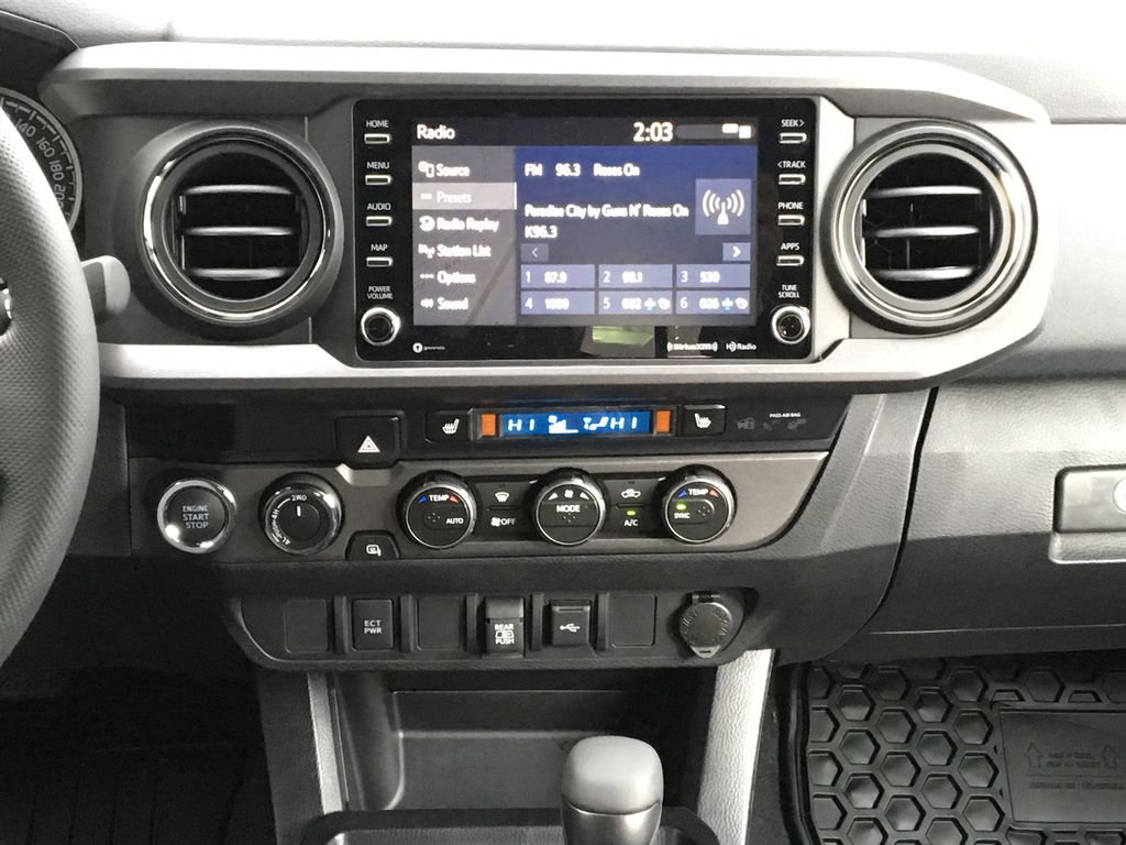 Magnetic Grey Metallic 2021 Toyota Tacoma TRD Sport Central Dash Options Photo in Kelowna BC