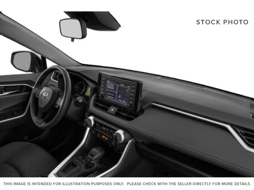 Blue[Blueprint] 2021 Toyota RAV4 Steering Wheel and Dash Photo in Brockville ON