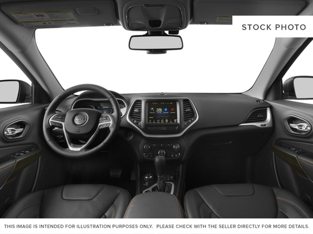 Black[Diamond Black Crystal Pearl] 2017 Jeep Cherokee Strng Wheel/Dash Photo: Frm Rear in Yarmouth NS