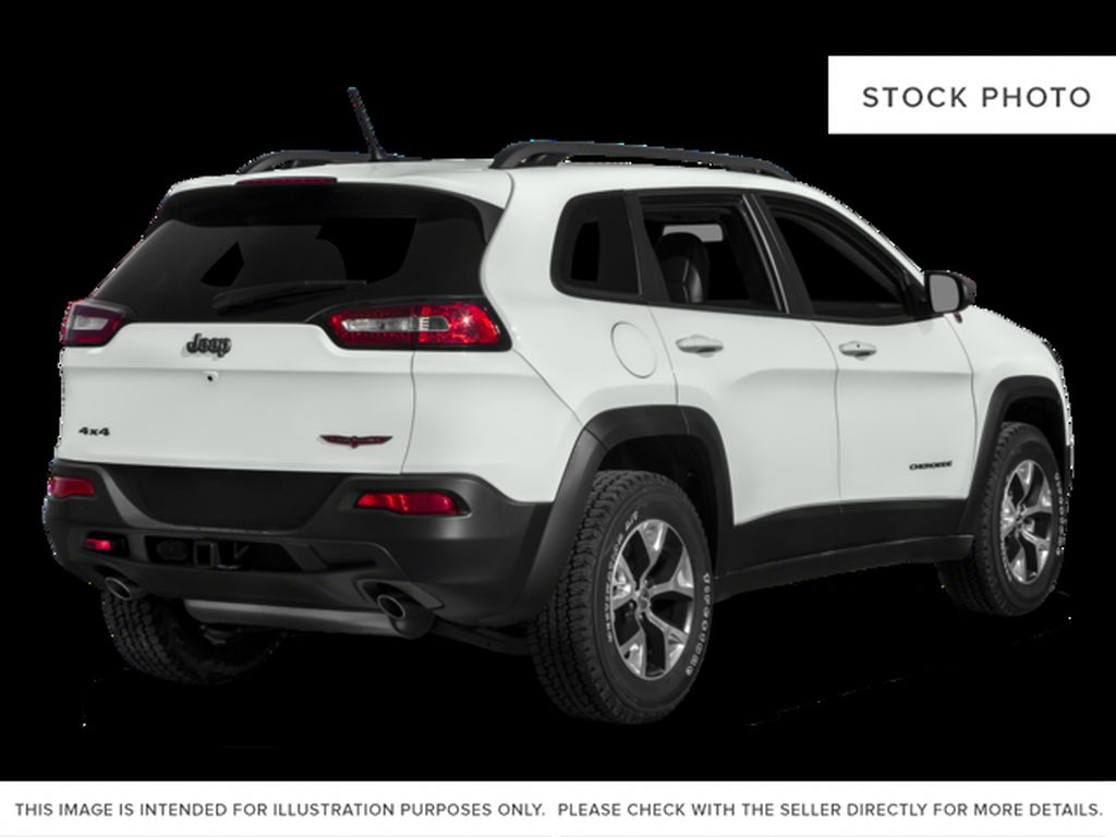 Black[Diamond Black Crystal Pearl] 2017 Jeep Cherokee Right Rear Corner Photo in Yarmouth NS