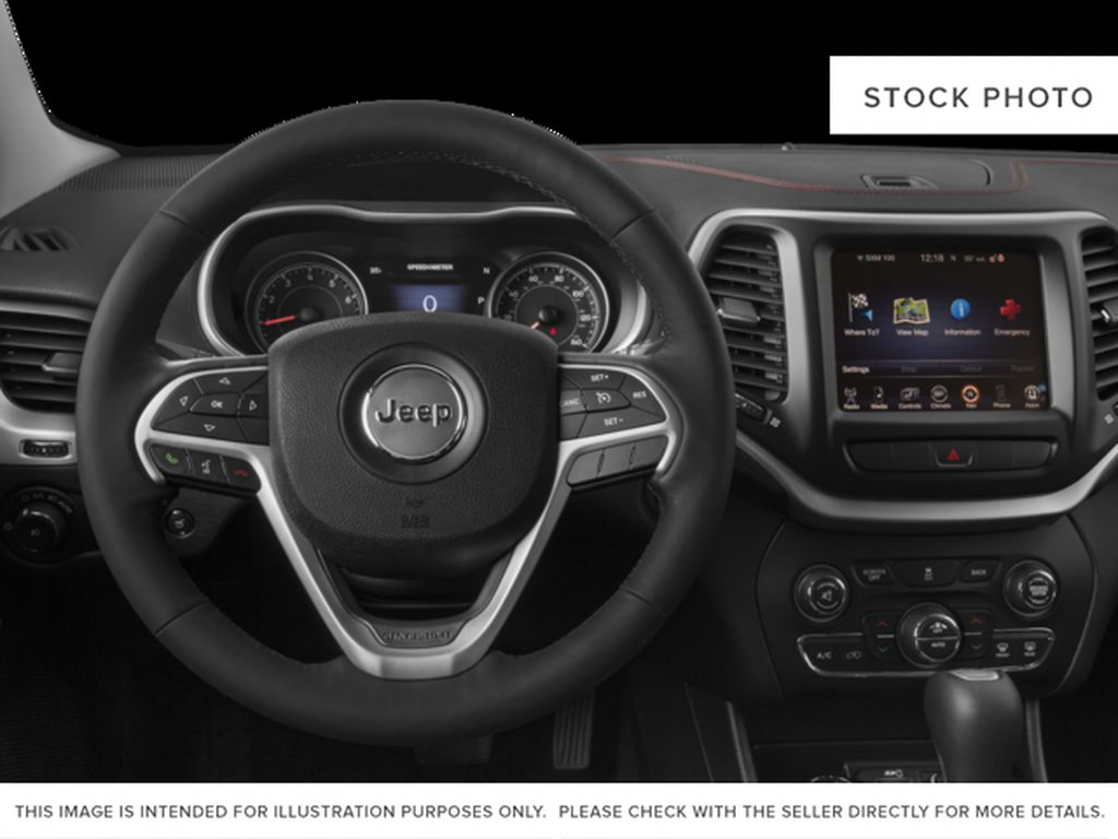 Black[Diamond Black Crystal Pearl] 2017 Jeep Cherokee Steering Wheel and Dash Photo in Yarmouth NS