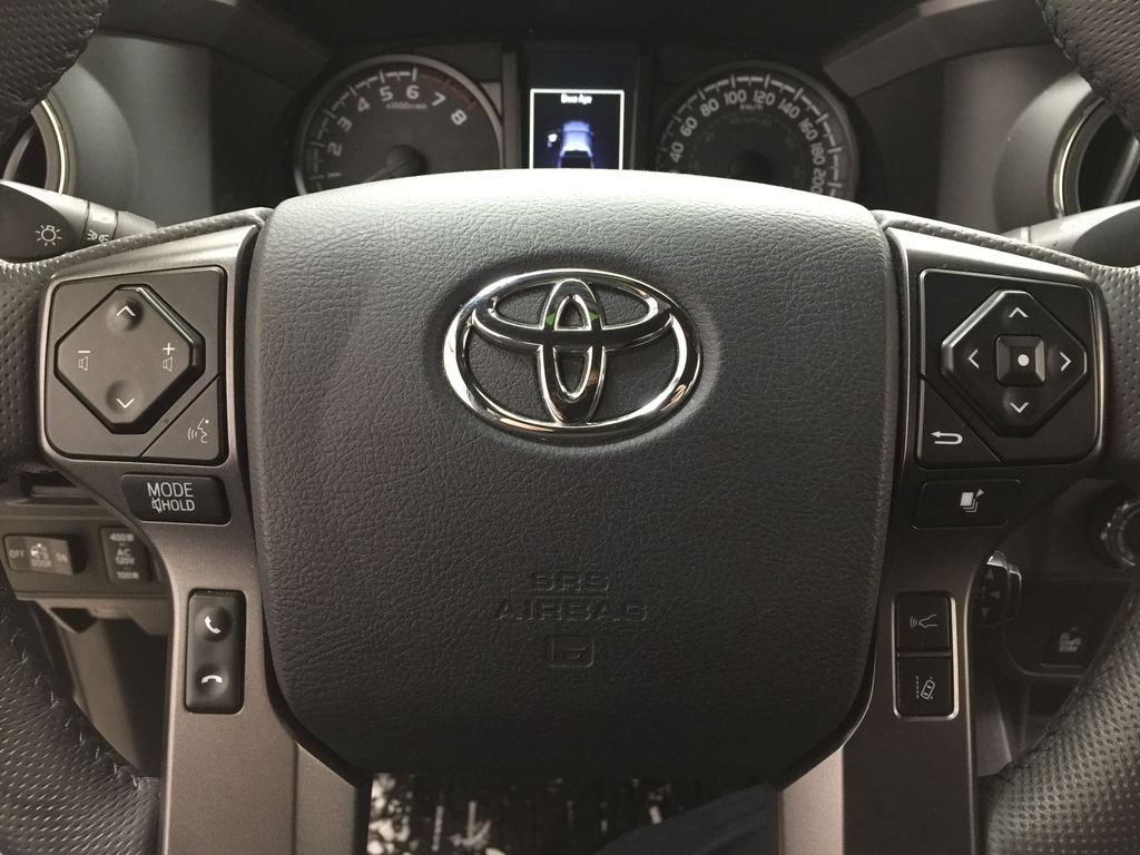 Black[Midnight Black Metallic] 2018 Toyota Tacoma TRD PRO - NO ACCIDENTS - LOW KMS Steering Wheel and Dash Photo in Sherwood Park AB