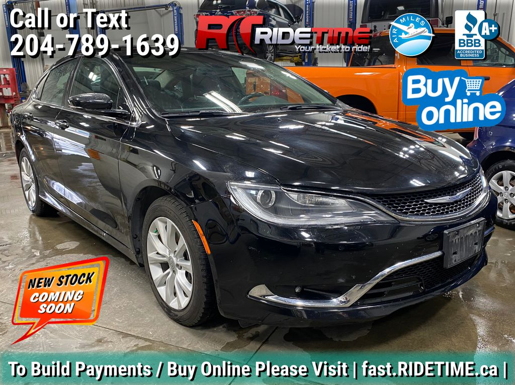 Black[Gloss Black] 2015 Chrysler 200 C  - Leather, Panoramic Roof, Backup Camera, Bluetooth