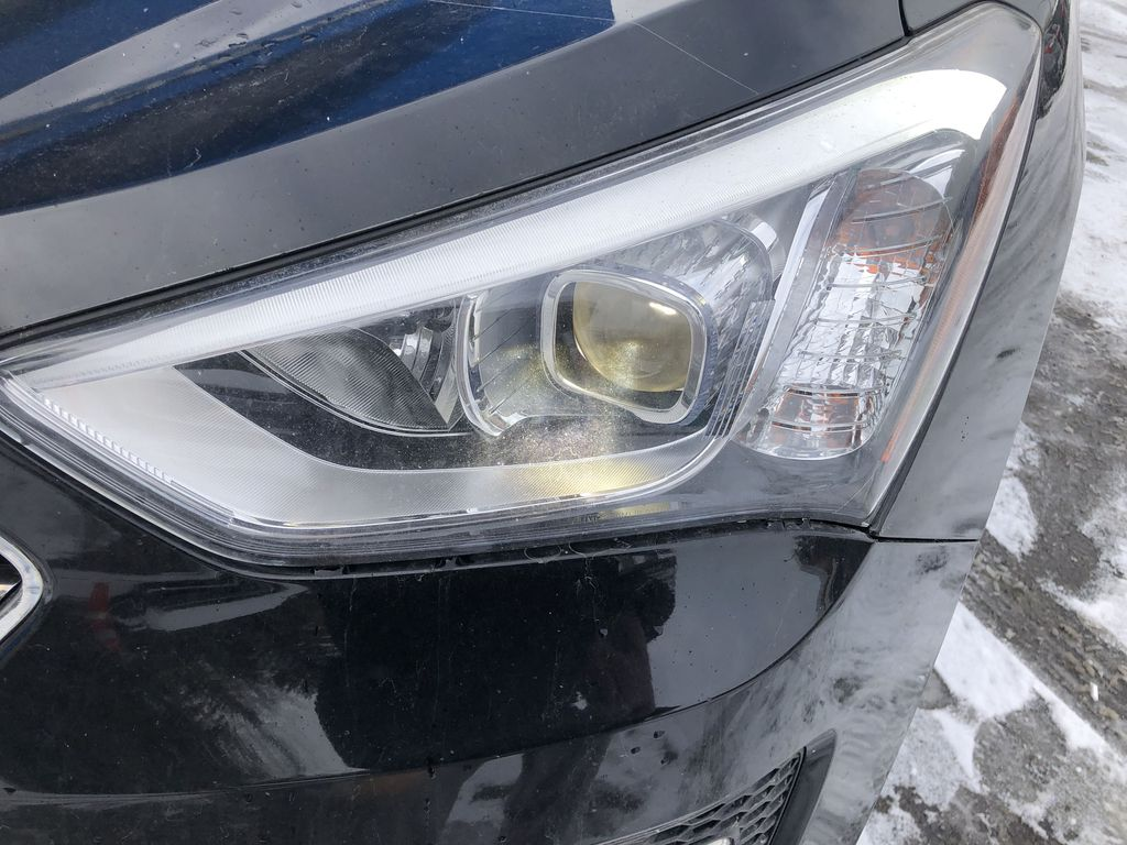 Black[Twilight Black] 2014 Hyundai Santa Fe Sport Left Front Head Light / Bumper and Grill in Canmore AB