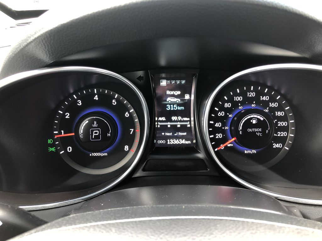 Black[Twilight Black] 2014 Hyundai Santa Fe Sport Central Dash Options Photo in Canmore AB