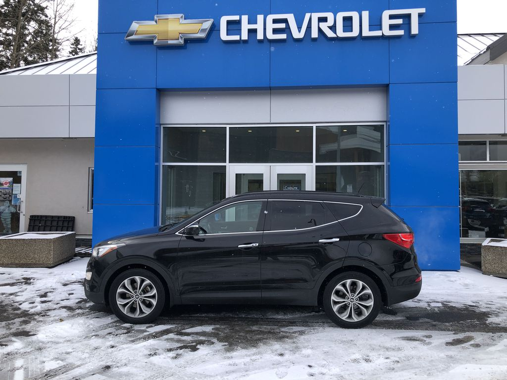 Black[Twilight Black] 2014 Hyundai Santa Fe Sport Left Side Photo in Canmore AB