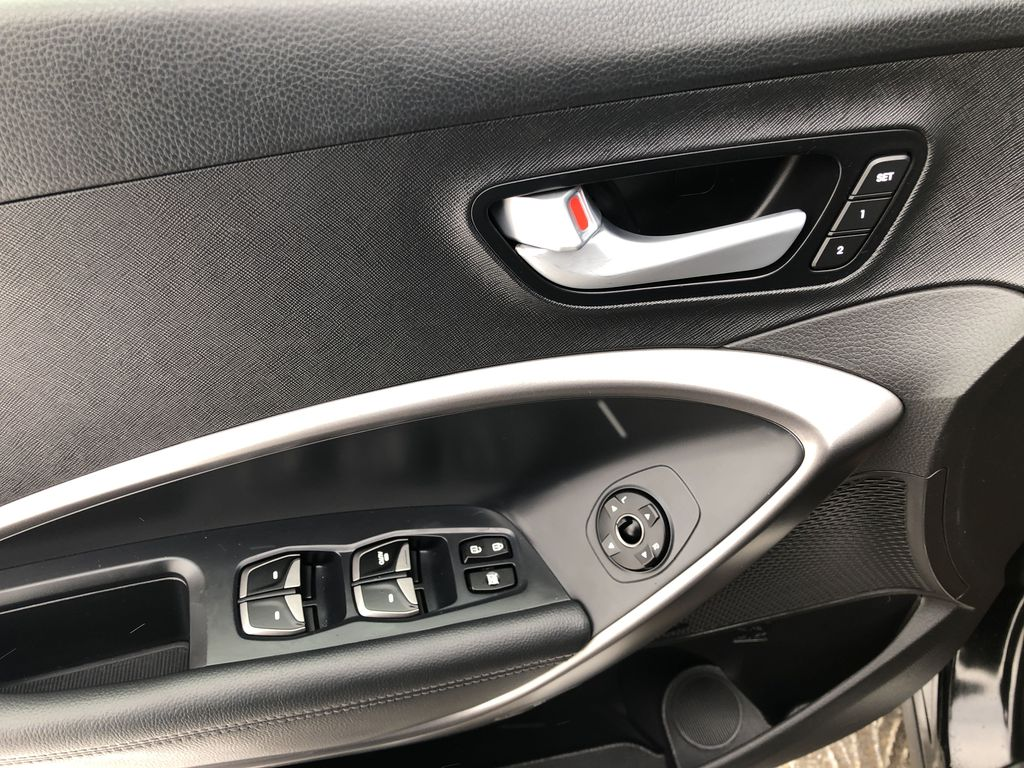 Black[Twilight Black] 2014 Hyundai Santa Fe Sport  Driver's Side Door Controls Photo in Canmore AB