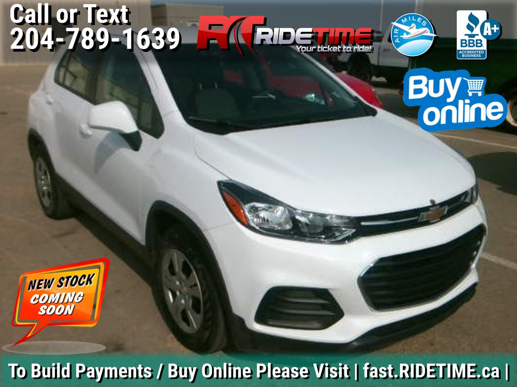 White[Summit White] 2018 Chevrolet Trax LS - Auto, Backup Camera, Bluetooth, Clean CarFax