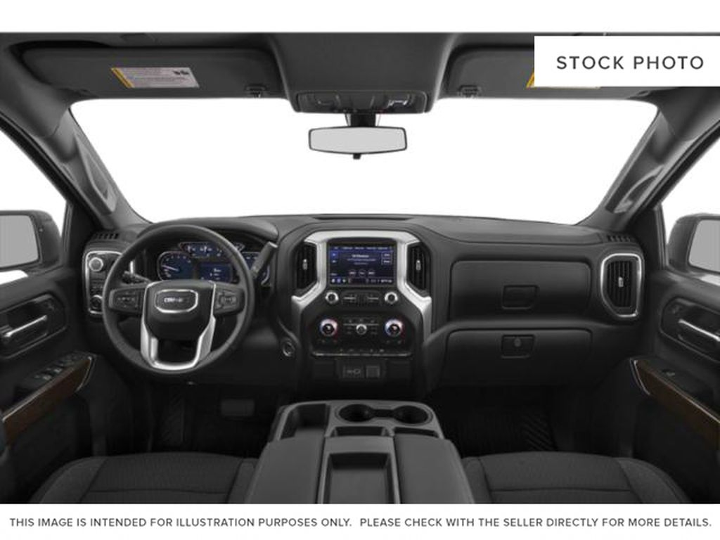 Quicksilver Metallic 2021 GMC Sierra 1500 Strng Wheel/Dash Photo: Frm Rear in Oshawa ON