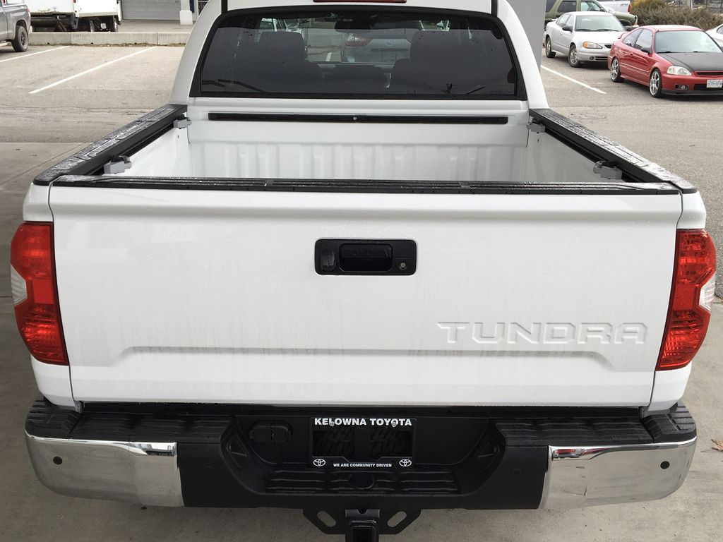 White[Super White] 2021 Toyota Tundra TRD Off Road Rear of Vehicle Photo in Kelowna BC