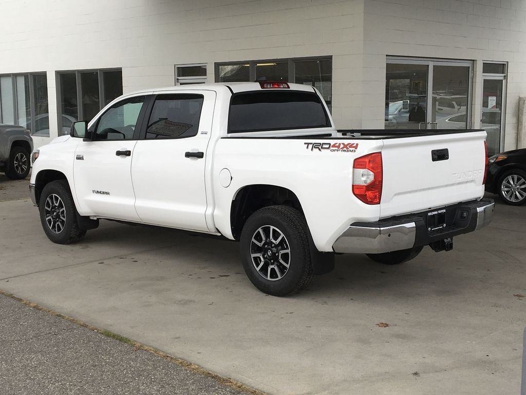 White[Super White] 2021 Toyota Tundra TRD Off Road Left Rear Corner Photo in Kelowna BC