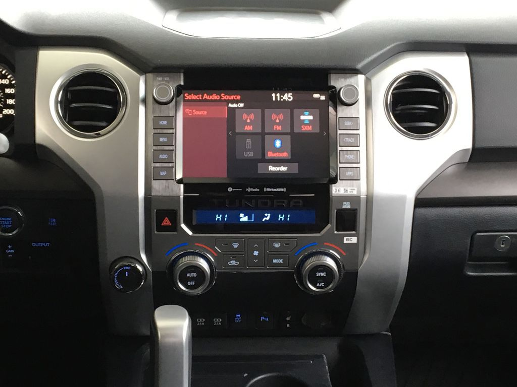 White[Super White] 2021 Toyota Tundra TRD Off Road Central Dash Options Photo in Kelowna BC