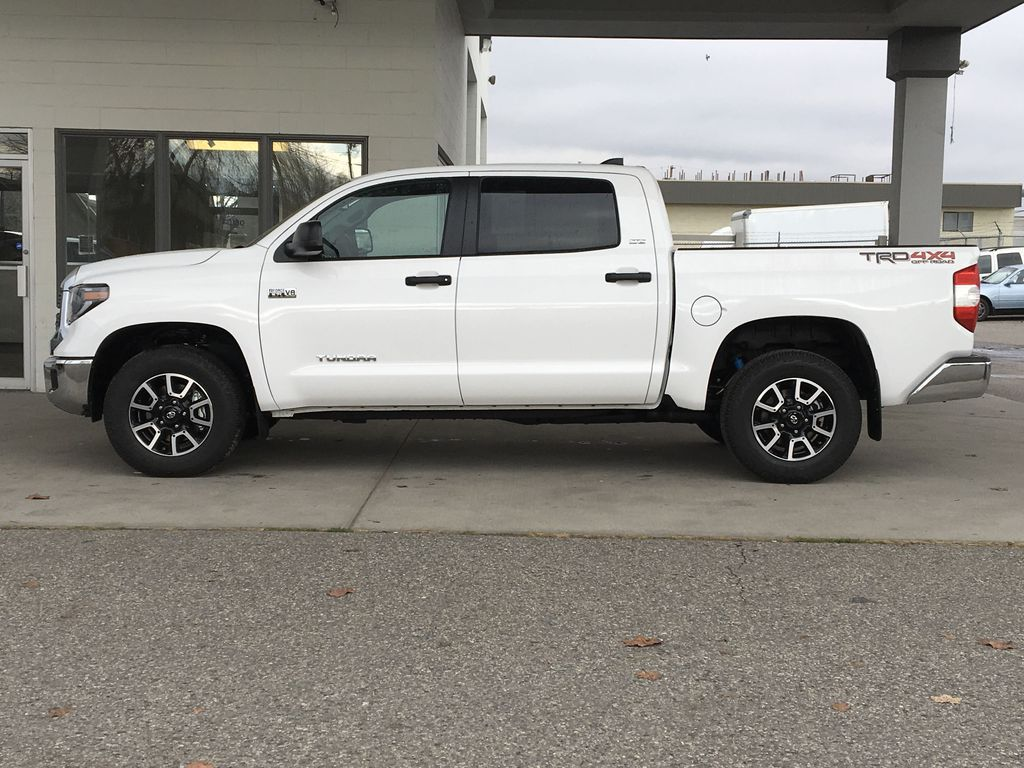 White[Super White] 2021 Toyota Tundra TRD Off Road Left Side Photo in Kelowna BC