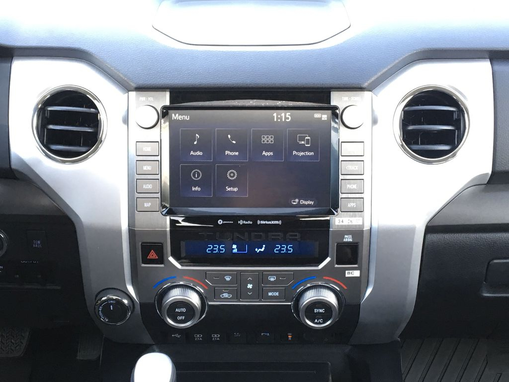 Gray[Cement] 2021 Toyota Tundra TRD Off Road Central Dash Options Photo in Kelowna BC