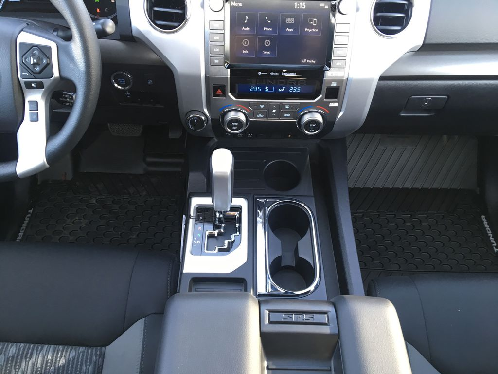 Gray[Cement] 2021 Toyota Tundra TRD Off Road Center Console Photo in Kelowna BC
