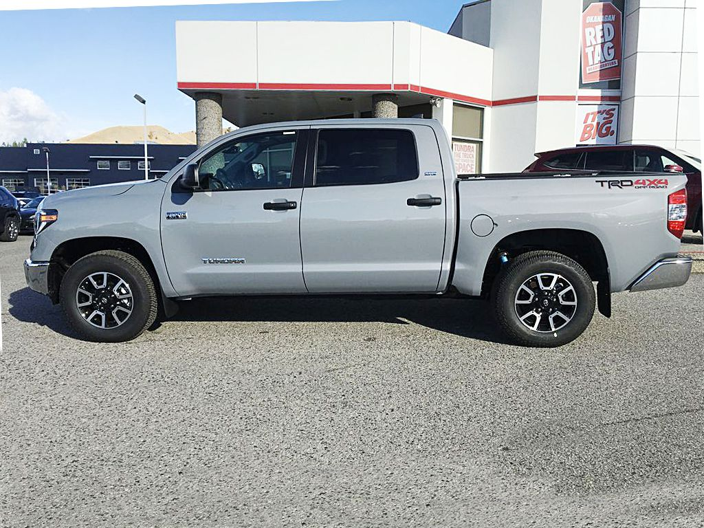 Gray[Cement] 2021 Toyota Tundra TRD Off Road Left Side Photo in Kelowna BC