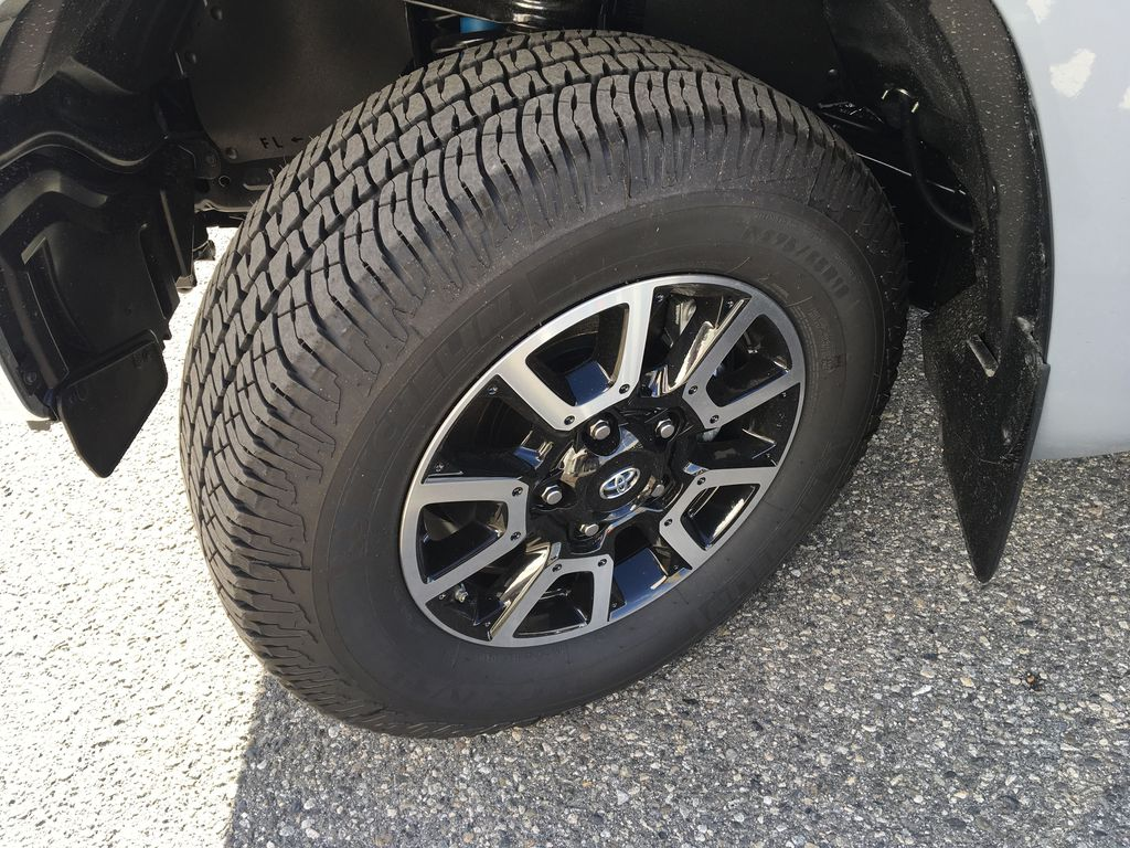 Gray[Cement] 2021 Toyota Tundra TRD Off Road Left Front Rim and Tire Photo in Kelowna BC