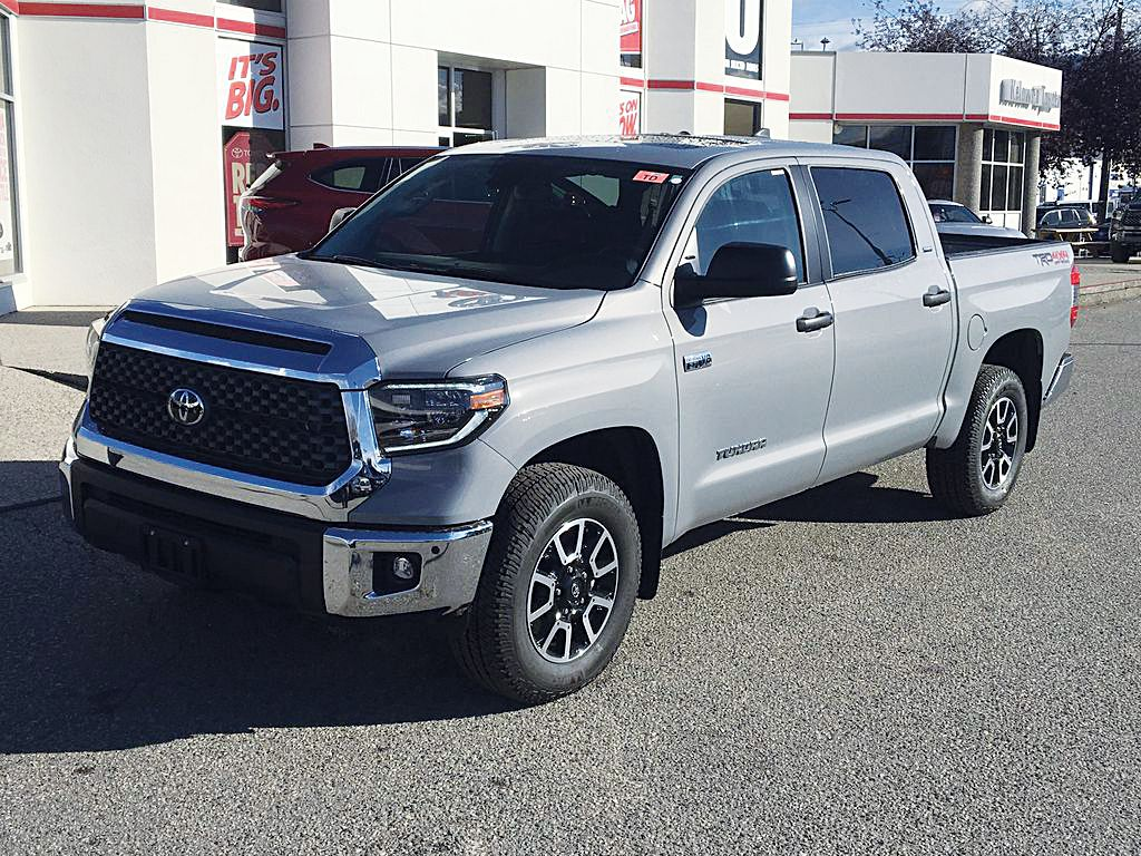 Gray[Cement] 2021 Toyota Tundra TRD Off Road Left Front Corner Photo in Kelowna BC