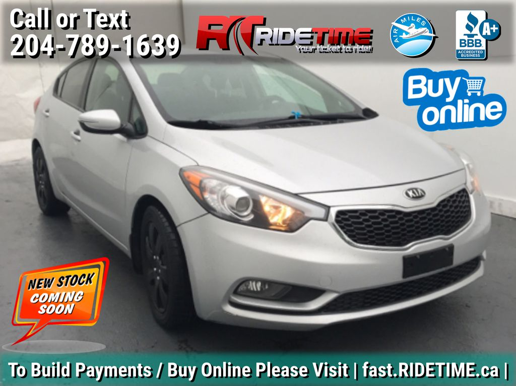 Silver[Sterling Metallic] 2015 Kia Forte LX Plus - Automatic, Heated Seats, Bluetooth, Cruise Control