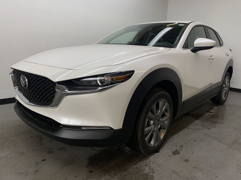 SNOW FLAKE WHITE PEARL(25D) 2021 Mazda CX-30 GS-L Left Front Head Light / Bumper and Grill in Edmonton AB