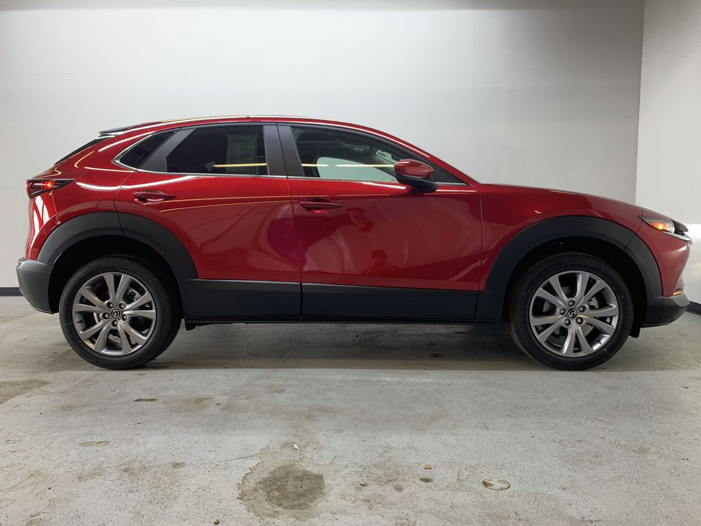 SOUL RED CRYSTAL METALLIC(46V) 2021 Mazda CX-30 GS-L AWD Right Side Photo in Edmonton AB