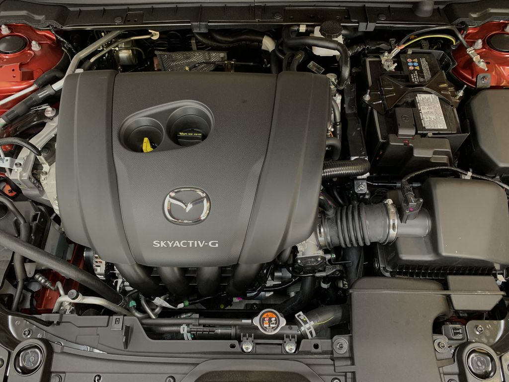 SOUL RED CRYSTAL METALLIC(46V) 2021 Mazda CX-30 GS-L AWD Engine Compartment Photo in Edmonton AB