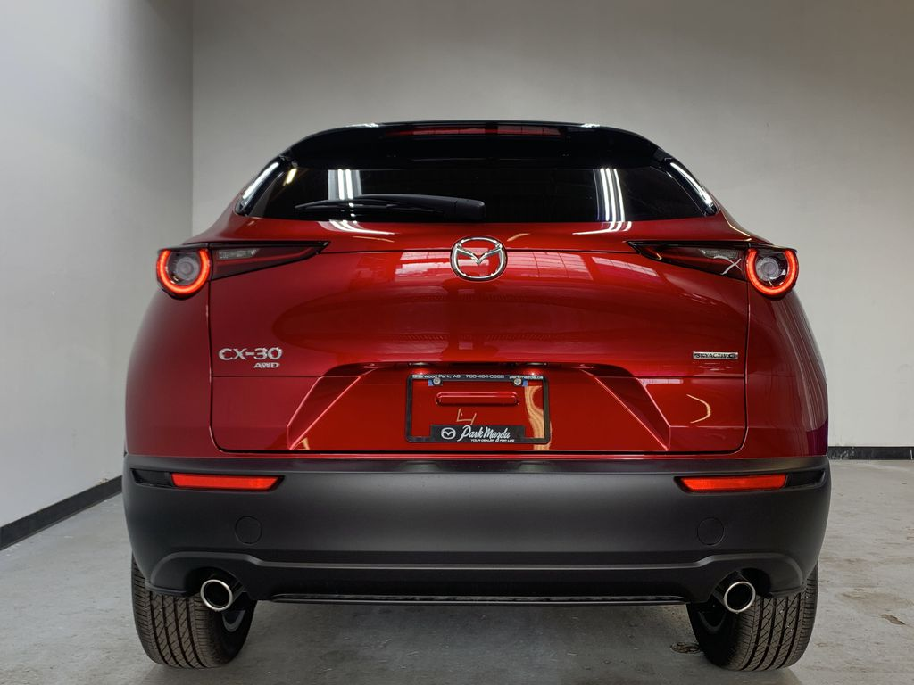 SOUL RED CRYSTAL METALLIC(46V) 2021 Mazda CX-30 GS-L AWD Rear of Vehicle Photo in Edmonton AB