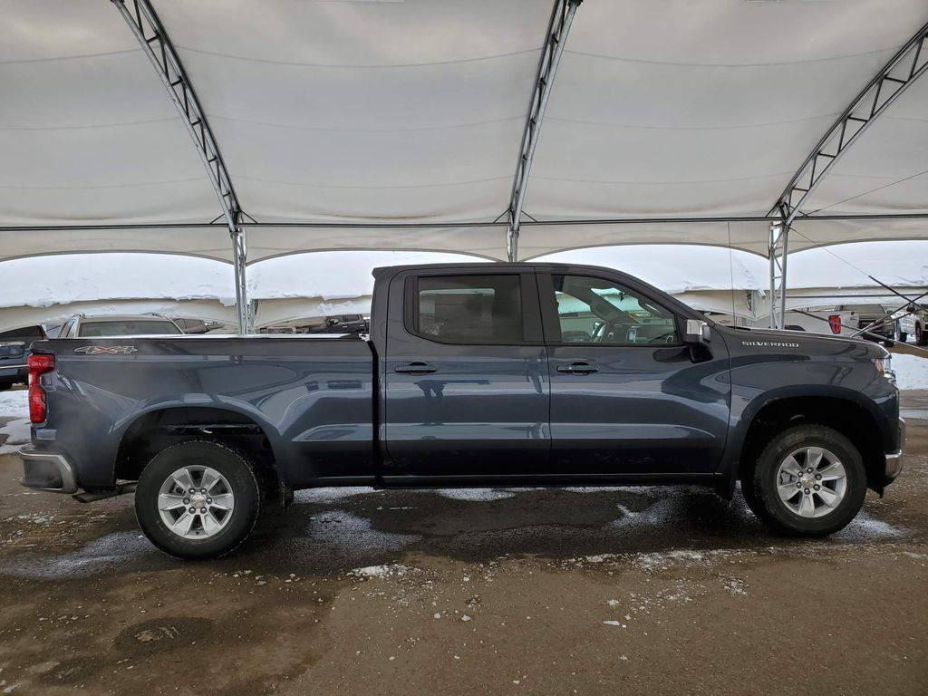 Grey 2021 Chevrolet Silverado 1500 Rear of Vehicle Photo in Airdrie AB