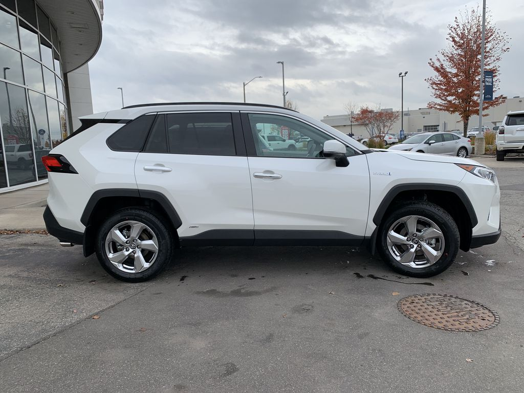 White[Blizzard Pearl] 2021 Toyota RAV4 Hybrid Limited Package DWRFVC AB Front Vehicle Photo in Brampton ON
