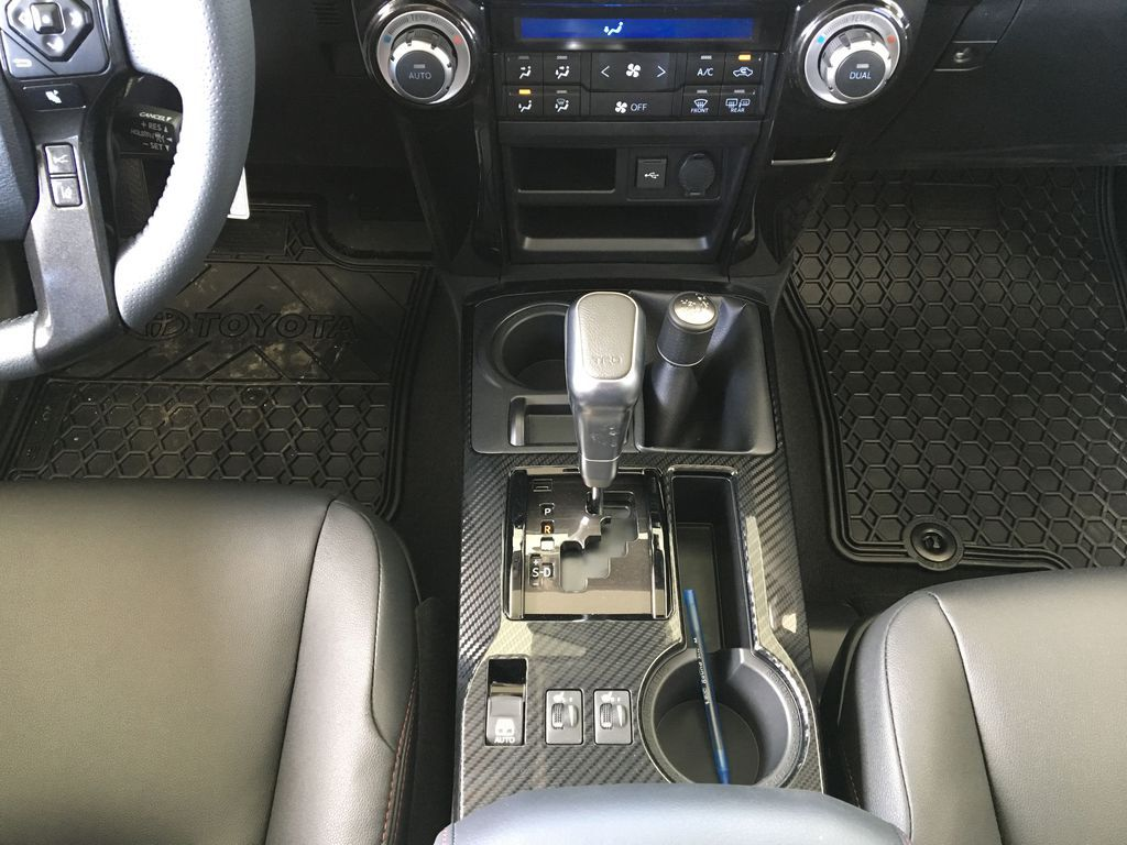 Silver[Classic Silver Metallic] 2021 Toyota 4Runner TRD Off Road Center Console Photo in Kelowna BC
