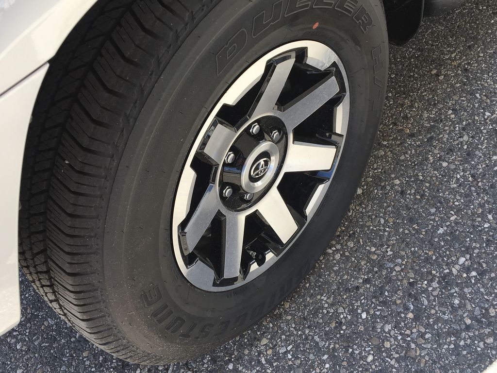 Silver[Classic Silver Metallic] 2021 Toyota 4Runner TRD Off Road Left Front Rim and Tire Photo in Kelowna BC