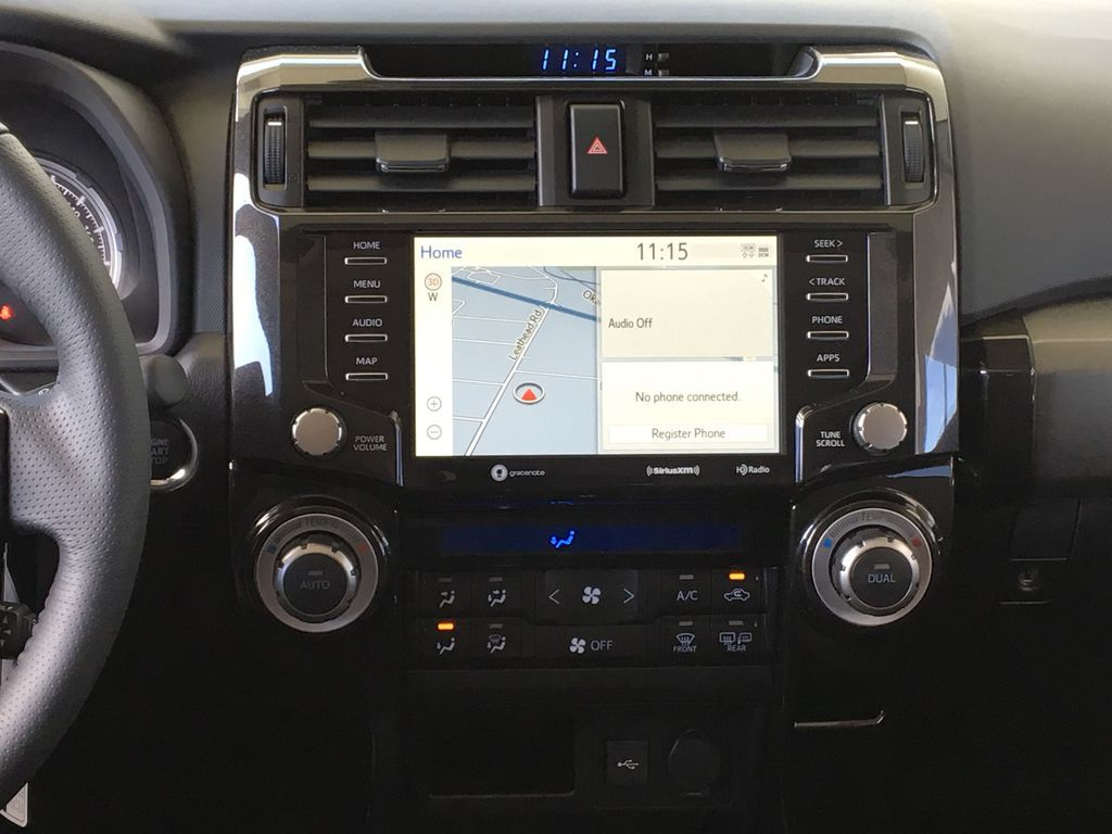 Silver[Classic Silver Metallic] 2021 Toyota 4Runner TRD Off Road Central Dash Options Photo in Kelowna BC