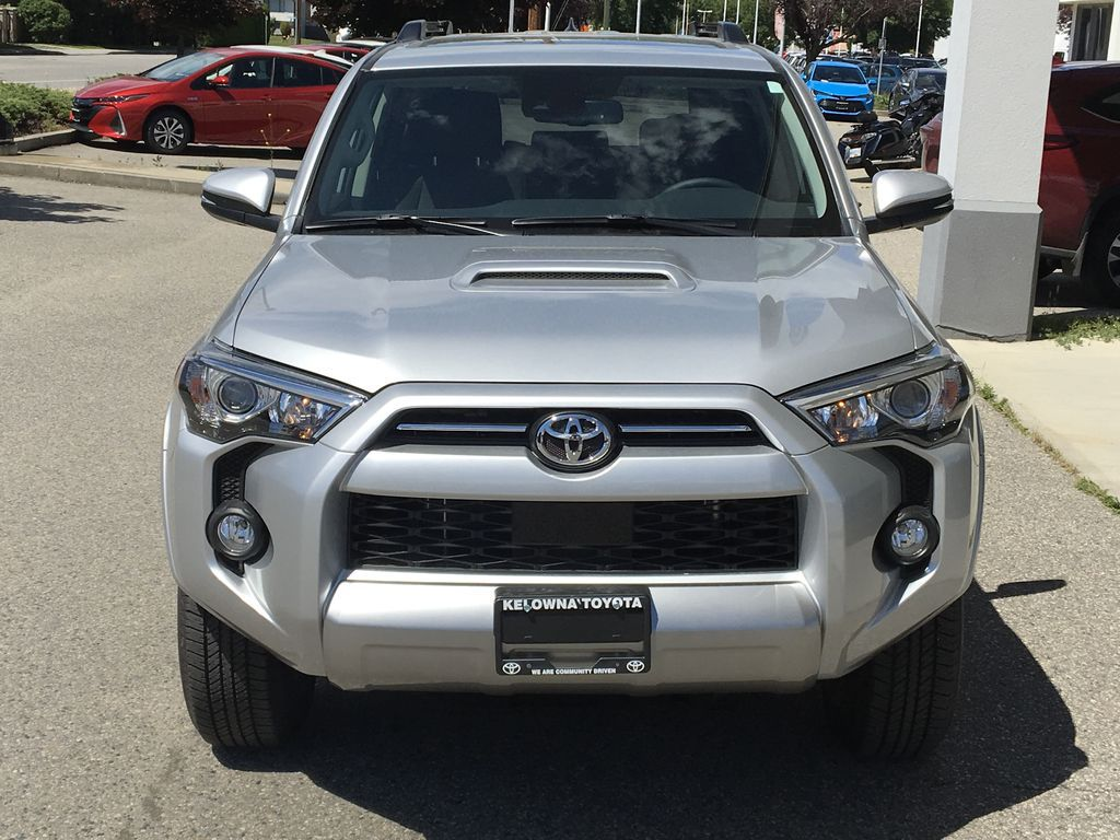 Silver[Classic Silver Metallic] 2021 Toyota 4Runner TRD Off Road Front Vehicle Photo in Kelowna BC