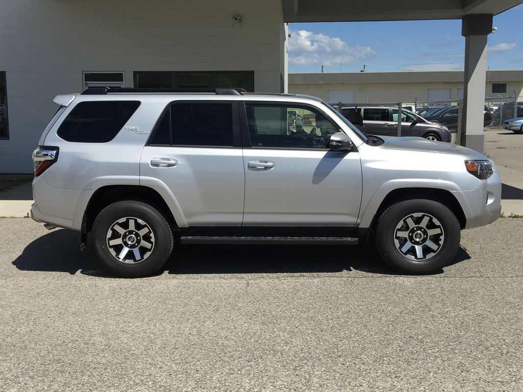 Silver[Classic Silver Metallic] 2021 Toyota 4Runner TRD Off Road Right Side Photo in Kelowna BC