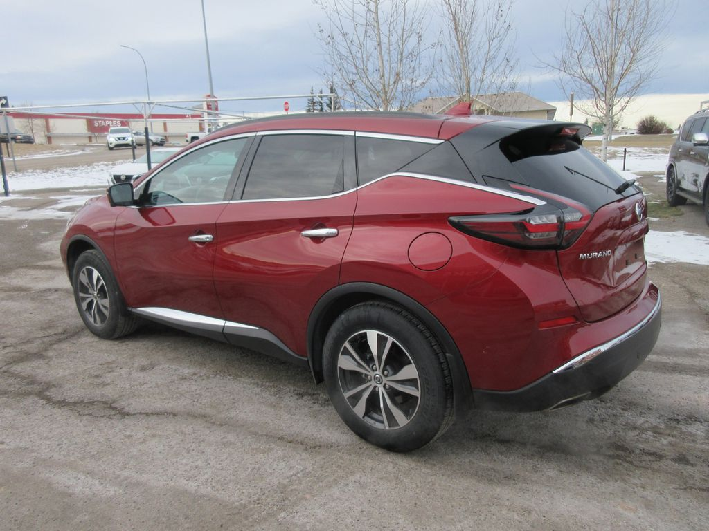 Red[Cayenne Red Metallic] 2020 Nissan Murano Strng Wheel/Dash Photo: Frm Rear in Okotoks AB