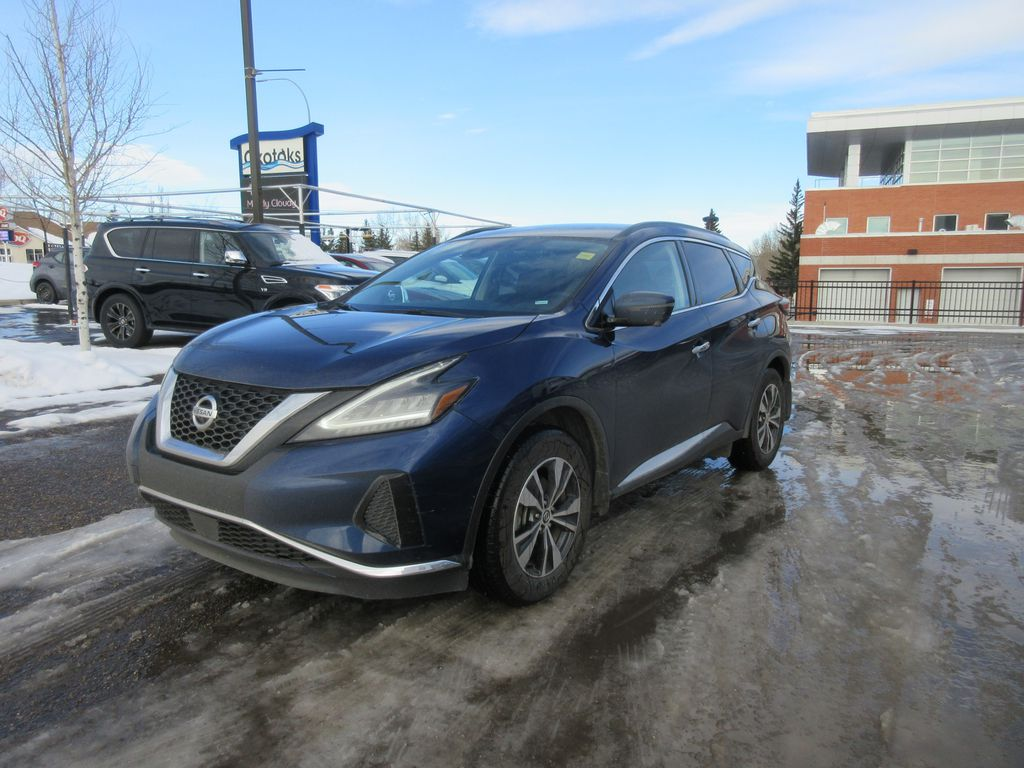 Blue[Deep Blue Pearl Metallic] 2020 Nissan Murano LR Door Panel Ctls Photo in Okotoks AB