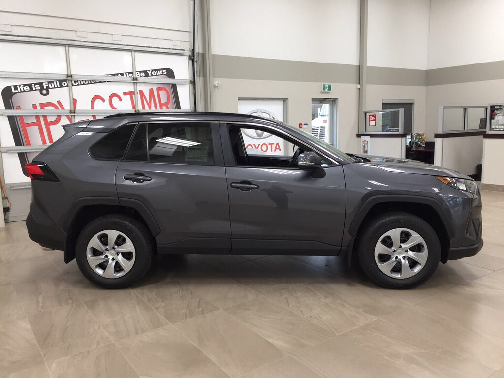 Gray[Magnetic Grey Metallic] 2021 Toyota RAV4 LE FWD Right Side Photo in Sherwood Park AB