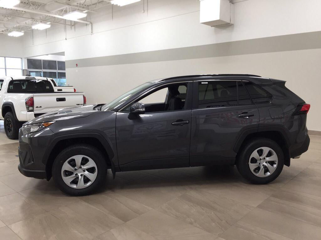 Gray[Magnetic Grey Metallic] 2021 Toyota RAV4 LE FWD Left Side Photo in Sherwood Park AB