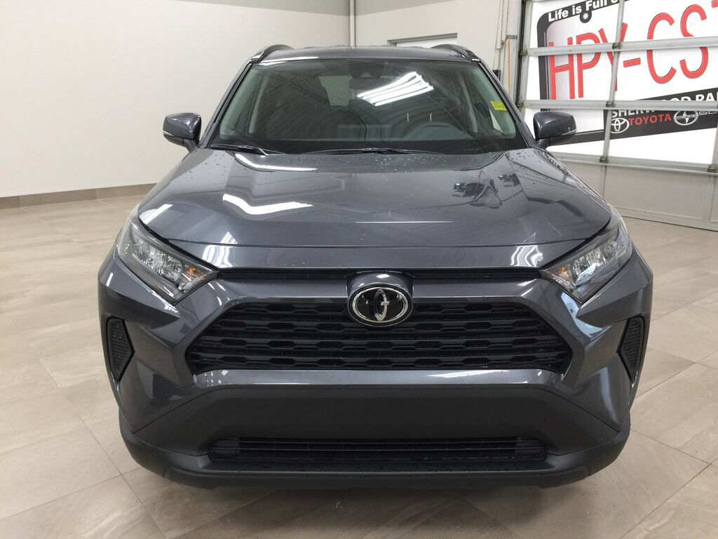 Gray[Magnetic Grey Metallic] 2021 Toyota RAV4 LE FWD Front Vehicle Photo in Sherwood Park AB