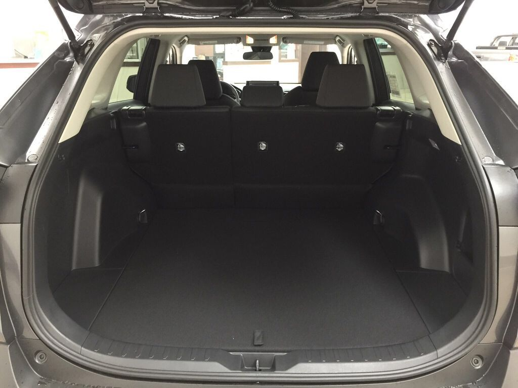 Gray[Magnetic Grey Metallic] 2021 Toyota RAV4 LE FWD Cargo Area/Rear Seats Photo in Sherwood Park AB