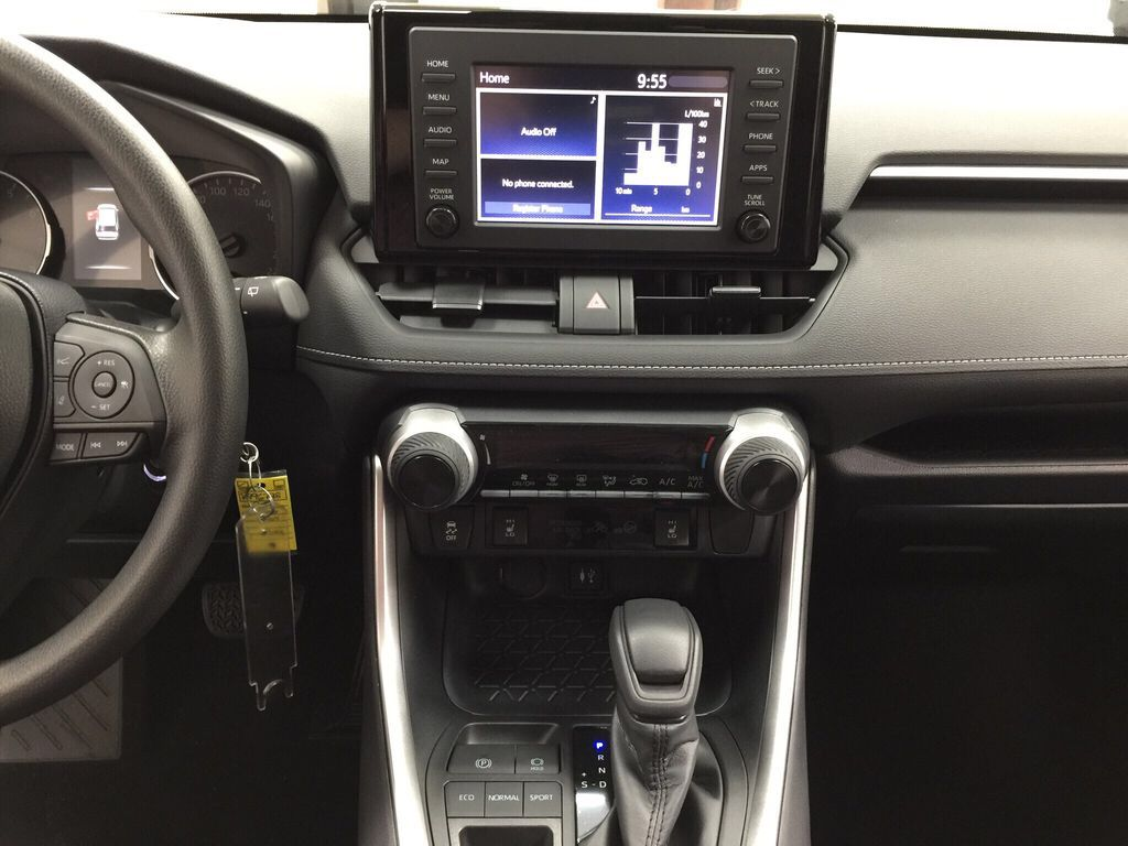 Gray[Magnetic Grey Metallic] 2021 Toyota RAV4 LE FWD Central Dash Options Photo in Sherwood Park AB