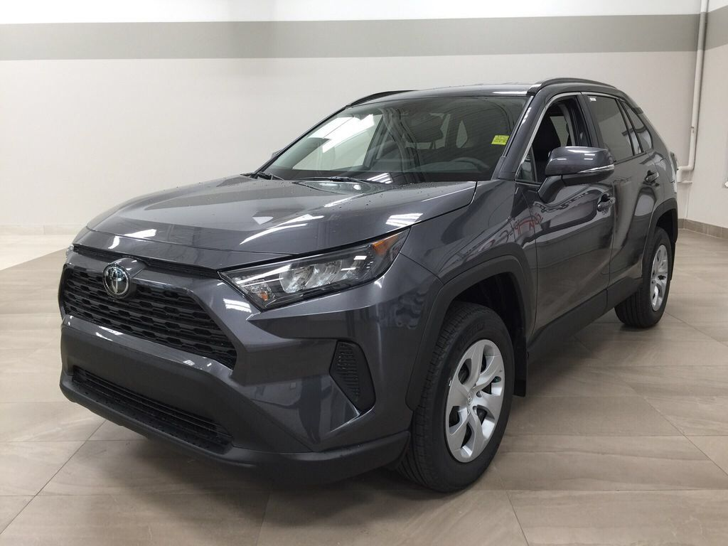 Gray[Magnetic Grey Metallic] 2021 Toyota RAV4 LE FWD Left Front Corner Photo in Sherwood Park AB