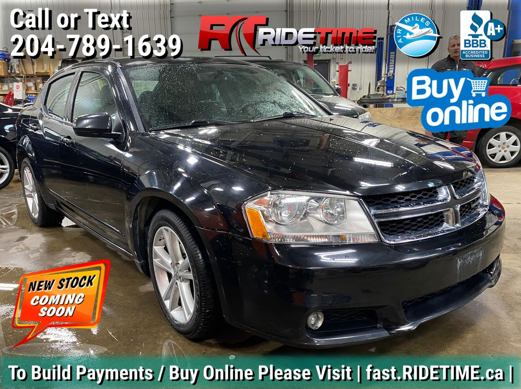 Black[Pitch Black Clearcoat] 2014 Dodge Avenger SXT - Heated Seats, Sunroof, Rear Spoiler