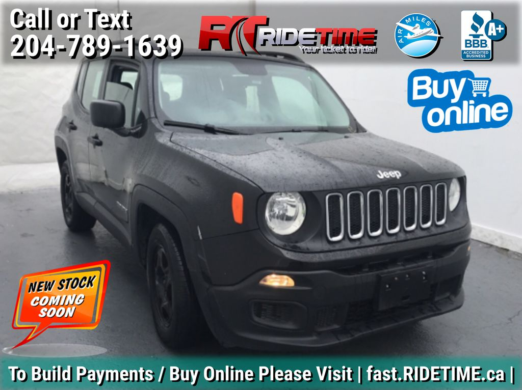 Black[Black] 2015 Jeep Renegade Sport -  My Sky Open Air Roof System, Backup Cam