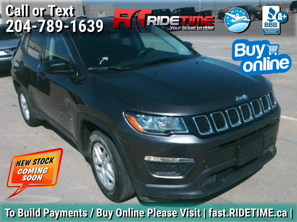 Gray[Granite Crystal Metallic] 2019 Jeep Compass Sport - Heated Seats/Steering Wheel, Apple CarPlay
