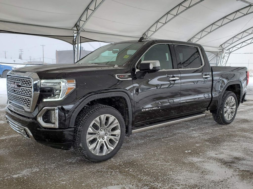 Black 2021 GMC Sierra 1500 Rear of Vehicle Photo in Airdrie AB