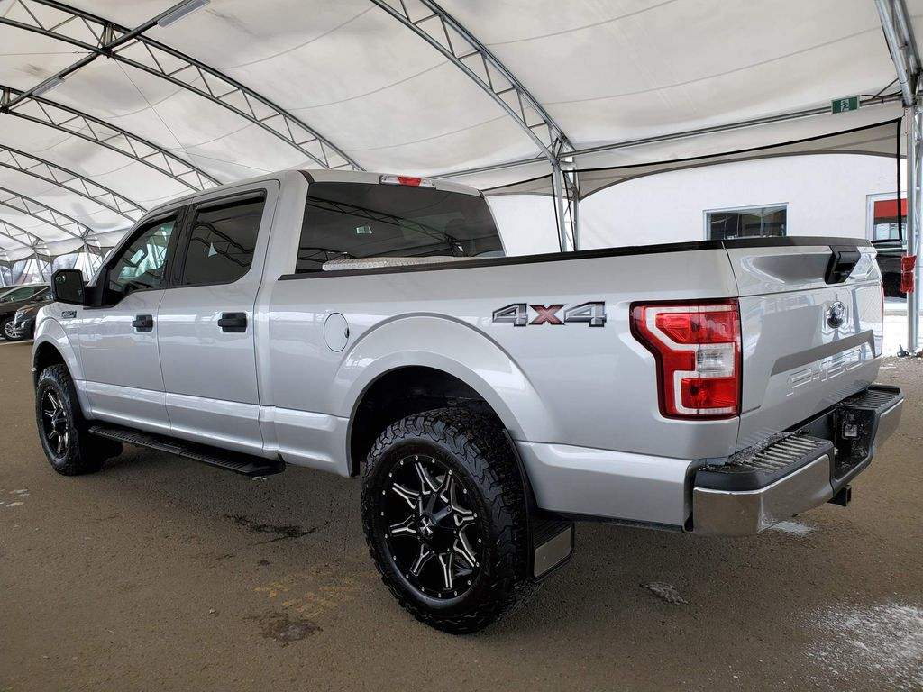 Silver 2018 Ford F-150 Rear of Vehicle Photo in Airdrie AB
